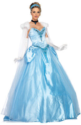Brand New Disney Princess Deluxe Cinderella Ball Gown Fancy Dress Adult Costume](Disney Princesses Costumes Adults)