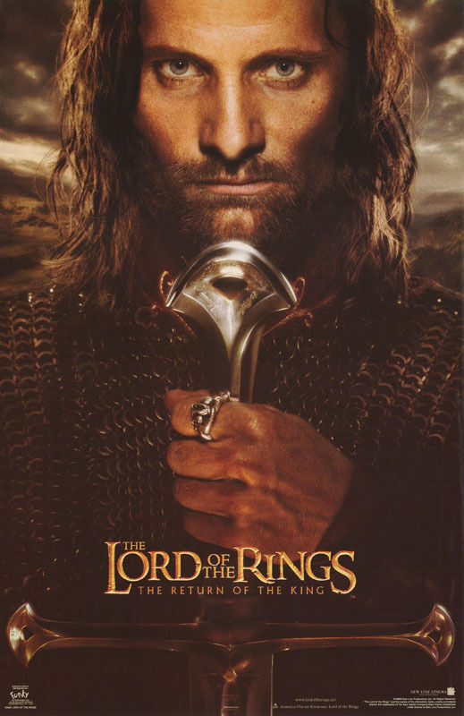 POSTER :MOVIE REPRO:  LORD OF THE RINGS - RETURN OF THE KING - #3585  RW6 W
