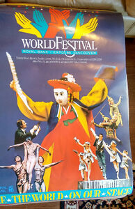LARGE Collectible Expo '86 Vancouver World Festival arts poster