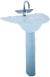 Vintage, Antique, Hectarus ``Elenali`` Glass Pedestal Sink