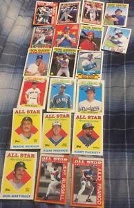Full Set of 22 1988 Baseball All Star Game Cards - Mint