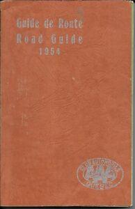 Guide de route du Québec 1954