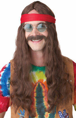 Mustache Halloween Costume (Hippie Man Halloween Costume Wig & Moustache)