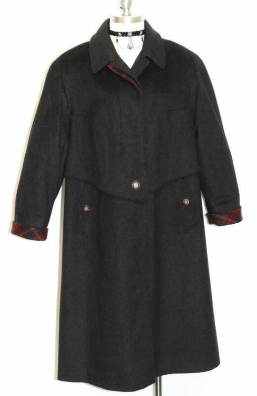 LODEN WOOL ALPACA Over Coat Jacket BLACK ~ WARM Long Women German Winter 18 XL