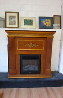Electric Fireplace Mantel Living Room Bedroom