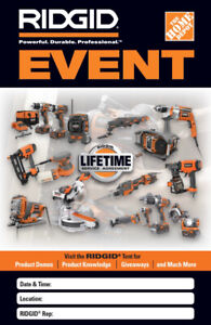 RIDGID POWER EVENT- ONE DAY SALES EVENT