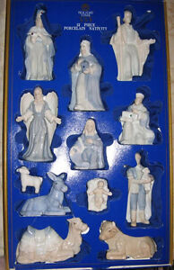 Beautiful Colored Porcelain Nativity SetBeautiful Colored Porcel