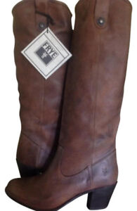 FRYE Jackie Button Tall Suede Leather Boots Size 9 - New