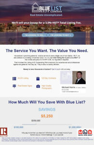 3.5% Real Estate Fees to list and sell your home on the MLS®*