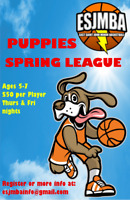 ESJMBA Basketball Puppies Spring League Registrations Open Now!