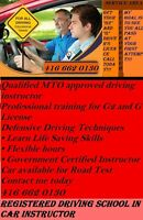 DRIVING SCHOOL IN CAR INSTRUCTOR 416 662 0130