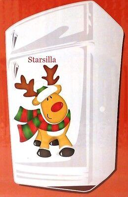 Reindeer Decoration Magnet Set Christmas Holiday Home Kitchen Decor 6 pcs NEW (Reindeer Decoration)