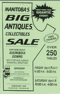 Manitoba's Big Antiques & Collectibles Show & Sale April 7 & 8