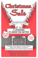 ANNUAL CHRISTMAS SALE OSHAWA/NEWCASTLE/HAMILTON