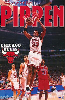 Poster: Sports: Nba Basketball: Scottie Pippen- Chicago Bulls - Free Ship Lw7 H