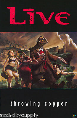 POSTER : MUSIC : LIVE - THROWING COPPER  - FREE SHIPPING !     #7198      LW24 X