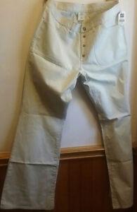 Women's Gap Khakis Button Fly/slight flare. Size 14. Never worn.