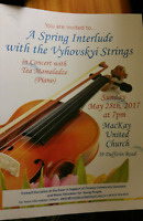 A Spring Interlude with the Vyhovskyi Strings concert