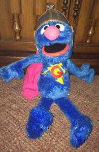 "Super Grover Sesame Street Talking Plush Stuffed Doll 15"" Tall"