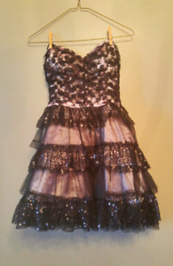 Black and pink Prom dress/ bridesmaid dress/ party dress