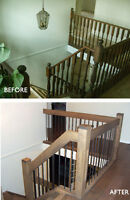 BEFORE Flooring, Upgrade Your Railing or Stair,  ask us why!""