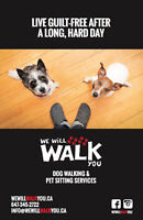 We Will Walk You - Dog Walking and Pet Sitting Services