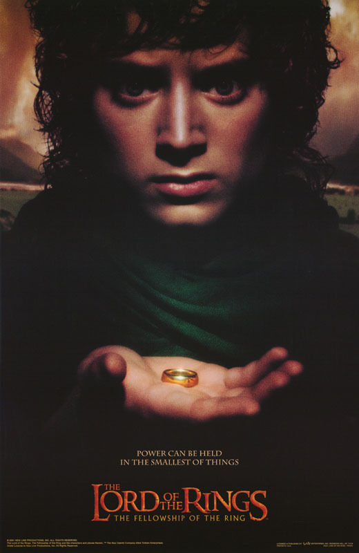 POSTER:MOVIE REPRO: LORD OF THE RINGS :FRODO:FELLOWSHIP - FREE SHIP #3521 LW10 U