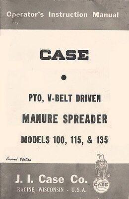 Case 100 115 135 Pto V Belt Spreader Operators Manual