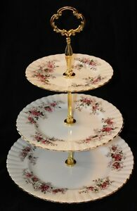 TIERED CAKE STAND - LAVENDER ROSE