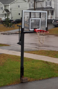 In ground basketball hoop in great condition