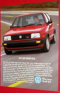 RED 1987 VW GOLF GT VINTAGE AD - RETRO ANONCE VOLKSWAGEN