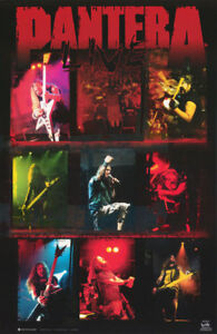POSTER: MUSIC: PANTERA - LIVE-  COLLAGE      FREE SHIPPING ! #7576     LC4 F
