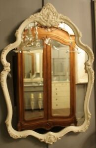 BEAUTIFUL FRENCH PROVINCIAL ETCHED MIRROR