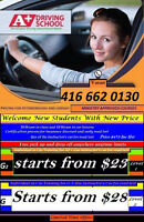 MTO Approved Driving school lessons $23
