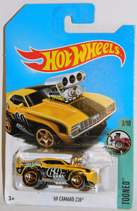 Hot Wheels 1/64 '69 Camaro Z28 Tooned Diecast Car