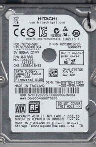 "HITACHI 500GB 7200 RPM SATA 3.0Gb/s 2.5"" Laptop Hard Drive"