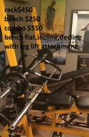powertec half squat rack/bench press