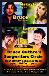 B. GUTHRO SONGWRITERS CIRCLE - FRONT ROW FLOOR TICKETS !!!
