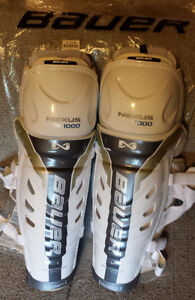 Bauer Nexus 1000 Shin Guards Jambieres Sr 16""