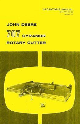 John Deere 707 Gyramor Rotary Cutter Operators Manual