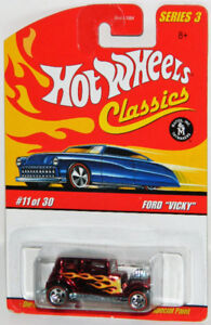 Hot Wheels Classics 1/64 Ford Vicky Diecast Car Red