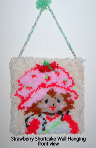 Strawberry Shortcake Rug Hook Wall Mount, hand made
