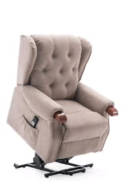 Brown and Grey Mobility Armchair Recliner and riser New free local del