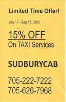 Sudbury Cab Limited time Offer