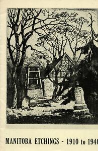 MANITOBA ETCHINGS 1910-1940 London Ontario image 1