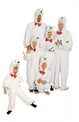 Eisbär Kostüm Overall Plüsch Tier Anzug Eisbärkostüm Bär - Eisbär Kostüme Kinder