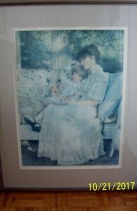 "FRAMED L/E SIGNED SANDRA KUCK PRINT ""DAYDREAMING""  **NEW PRICE**"