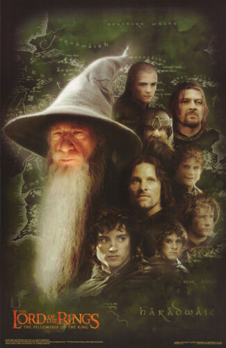 POSTER:MOVIE REPRO: LORD OF THE RINGS - GANDALF  & FRIENDS      #3524   RC25 Q