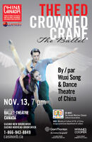 Award-winning dance drama THE RED CROWNED CRANE on Nov. 13