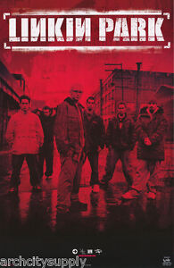 POSTER-MUSIC-LINKIN-PARK-GROUP-POSED-RED-FREE-SHIPPING-7602-RC11-E